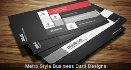 Metro Style Business Card Design