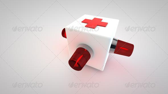 3D Cross Ambulance Symbol
