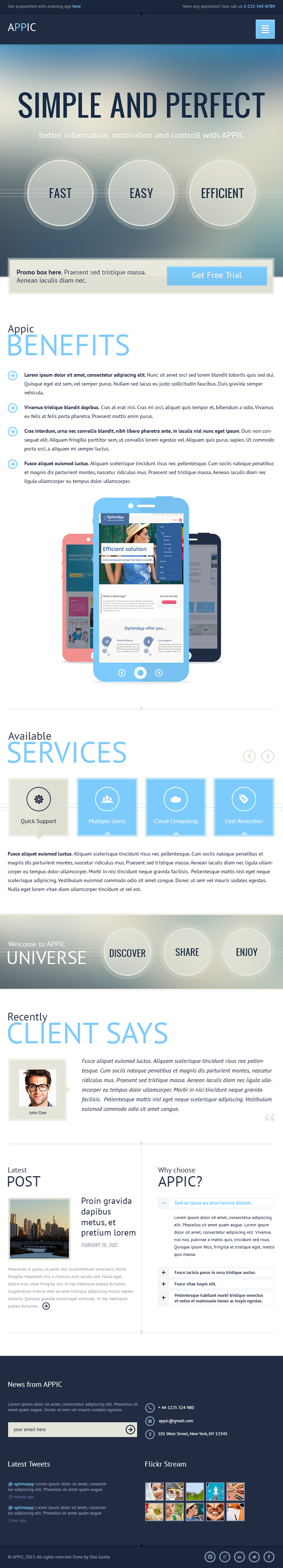 Appic - Business & Technology PSD Template
