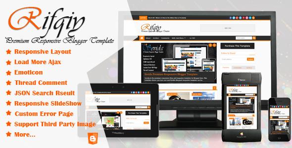 ThemeForest Rifqiy Responsive Blogger Template 5015591