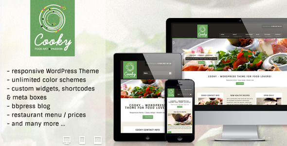 Cooky Restaurant Responsive WordPress Theme