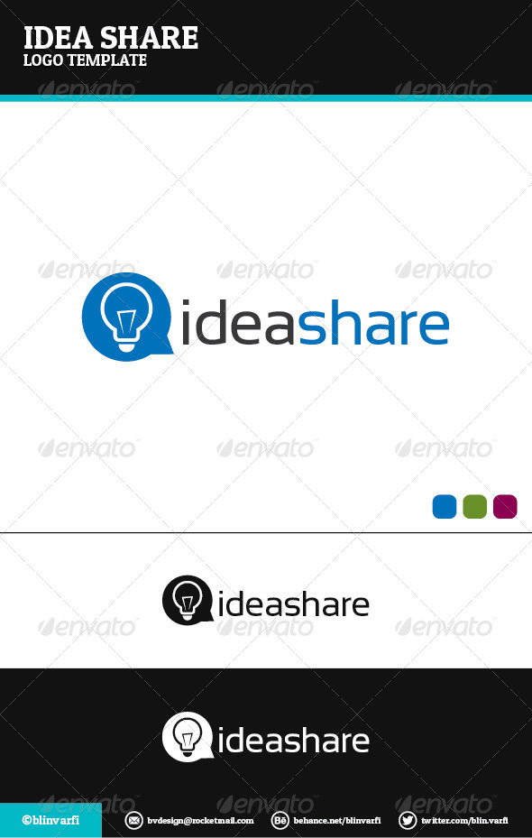 IdeaShare Logo Template  - Symbols Logo Templates