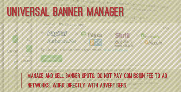 Universal Banner Manager - CodeCanyon Item for Sale