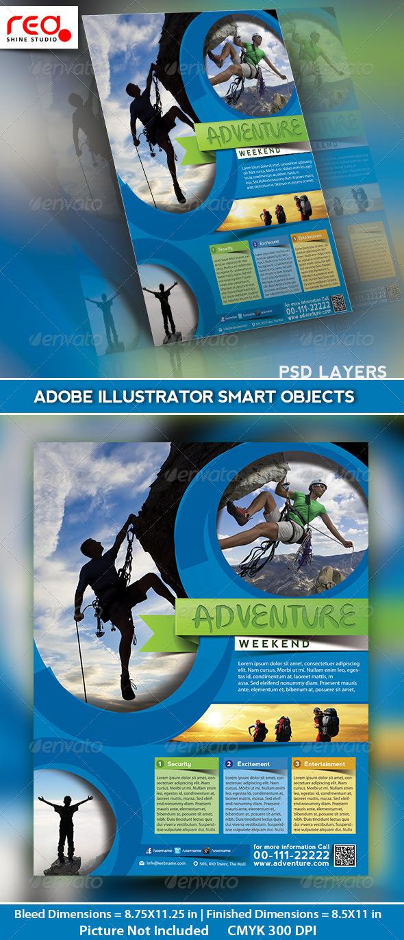 GraphicRiver Adventure World Flyer Poster & Magazine Template 4916206