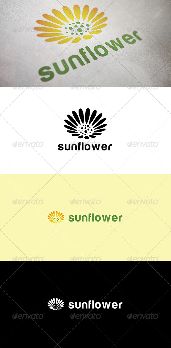GraphicRiver Abstract Sunflower 5015994