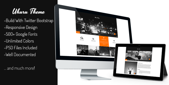 Uhuru - Responsive Multi-Purpose Concrete5 Theme - Concrete5 CMS Themes