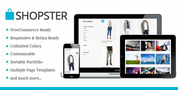 01 preview.  large preview Shopster | Retina Responsive WooCommerce Theme
