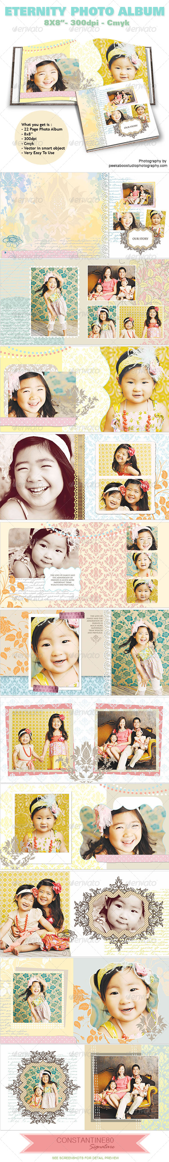 Eternity Photo Album - Photo Albums Print Templates