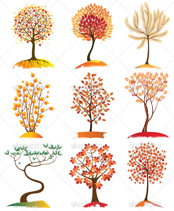 GraphicRiver Trees Icons 5016152