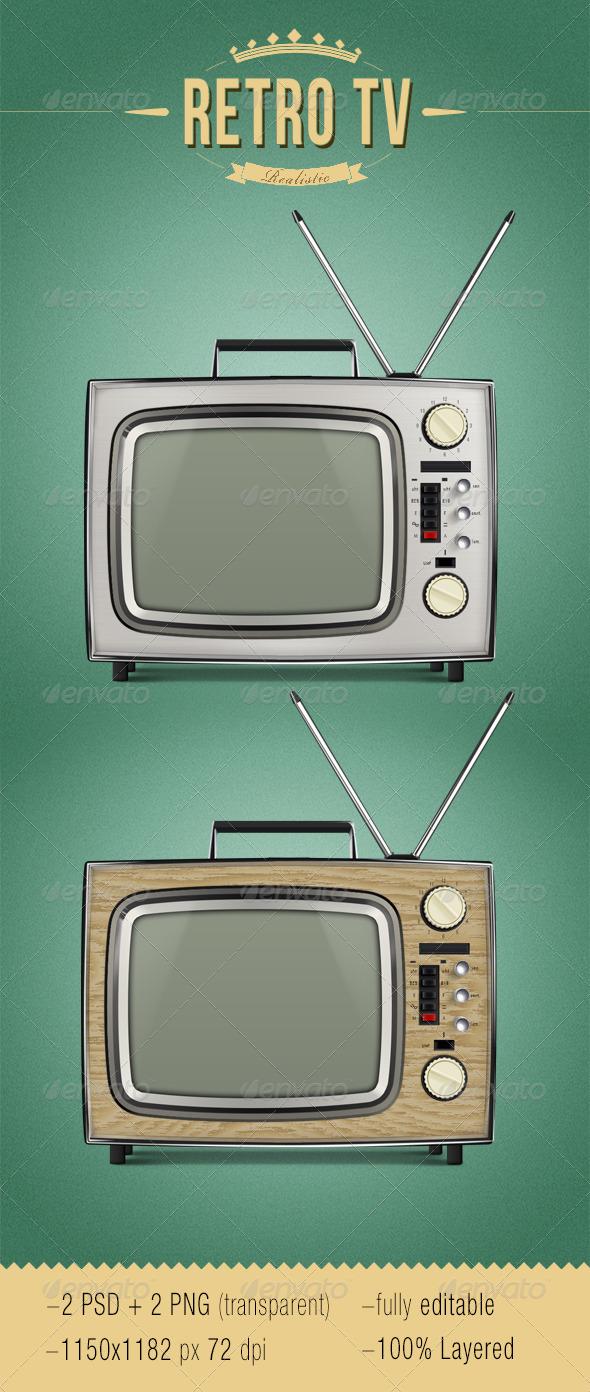 GraphicRiver Realistic Retro TV 5016340
