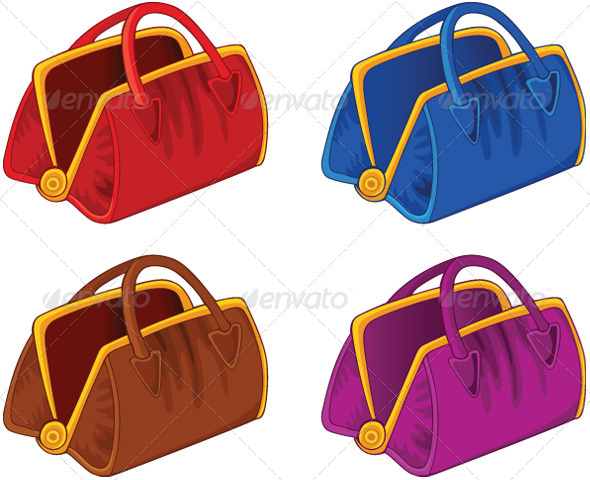 Set of Color Handbags