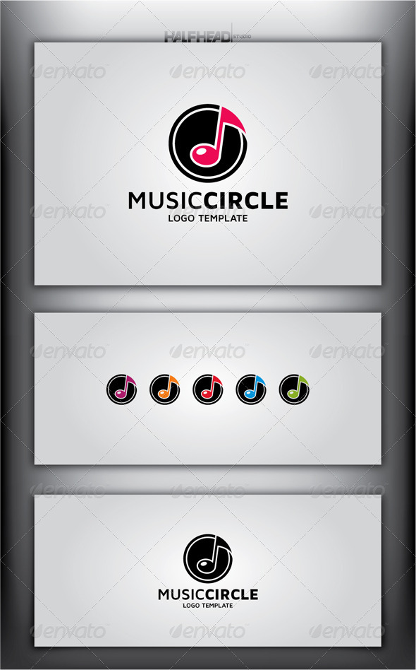 GraphicRiver Music Circle Logo Template 5016880