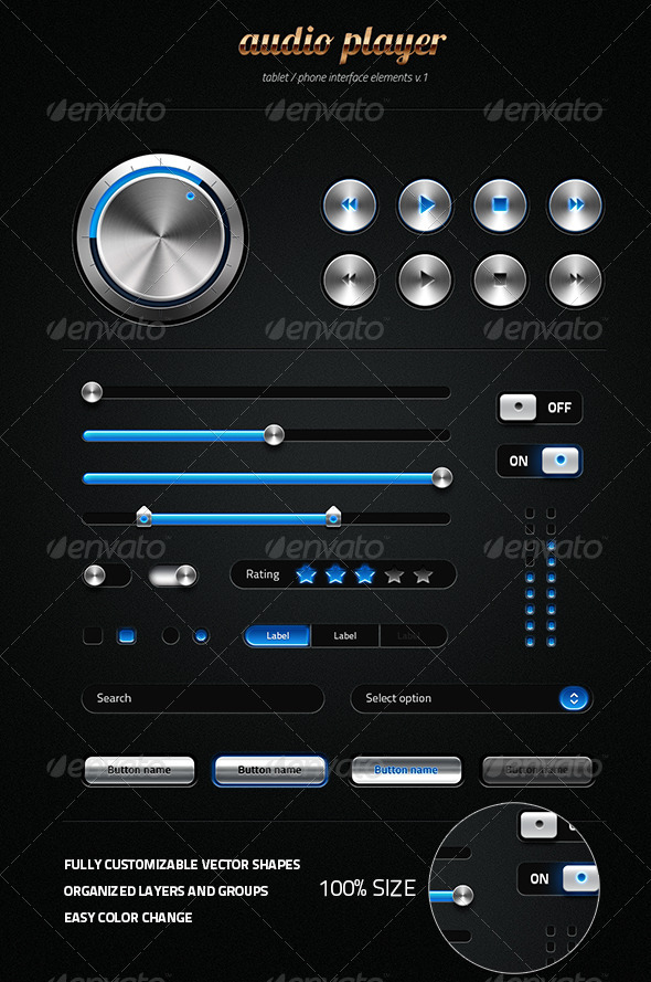 GraphicRiver Metalic User Interface Kit 4994554