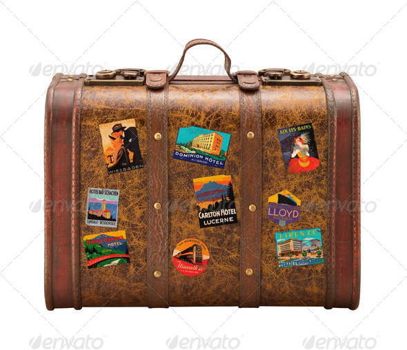 PhotoDune Old Suitcase isolated with a clipping path 522562