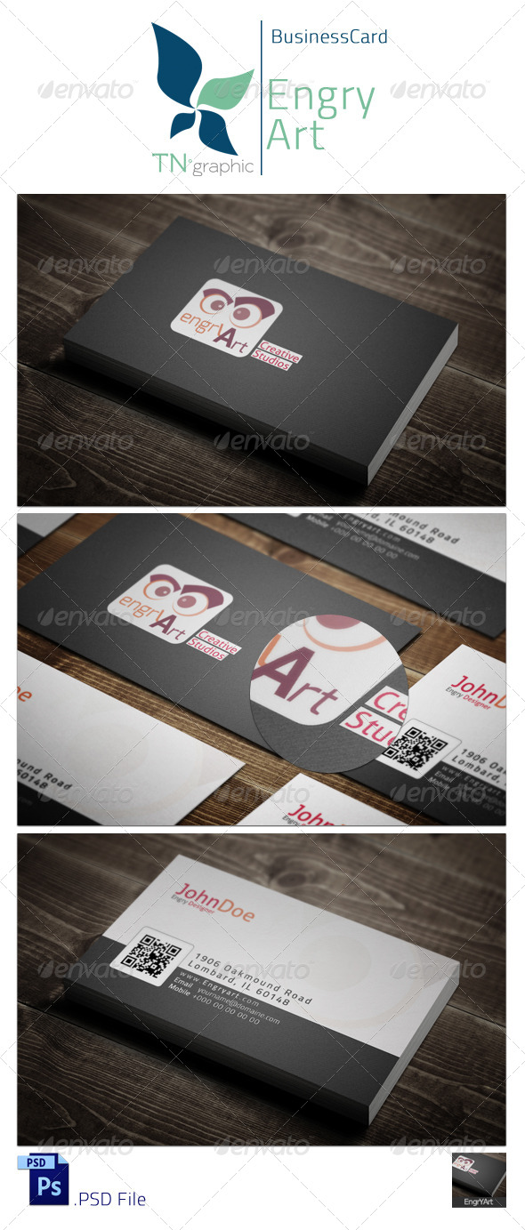 GraphicRiver EngryArt Business Card 5017830