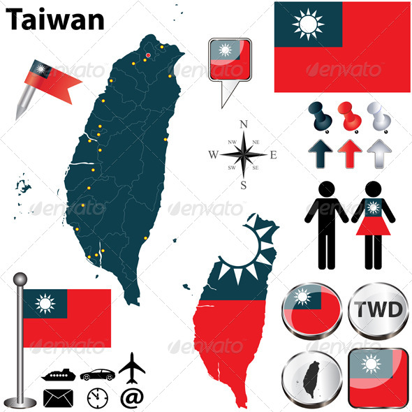 GraphicRiver Map of Taiwan 5017870
