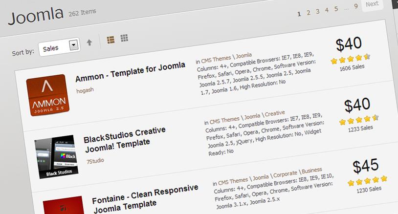 10 Joomla Theme Bestsellers