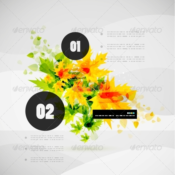 GraphicRiver Leaf Nature Infographic Modern Template 5018213