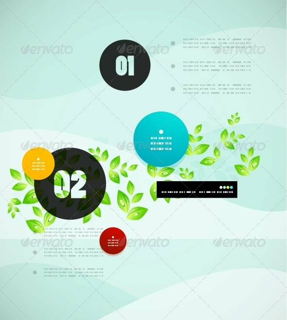 GraphicRiver Nature Infographics Modern Template 5018221