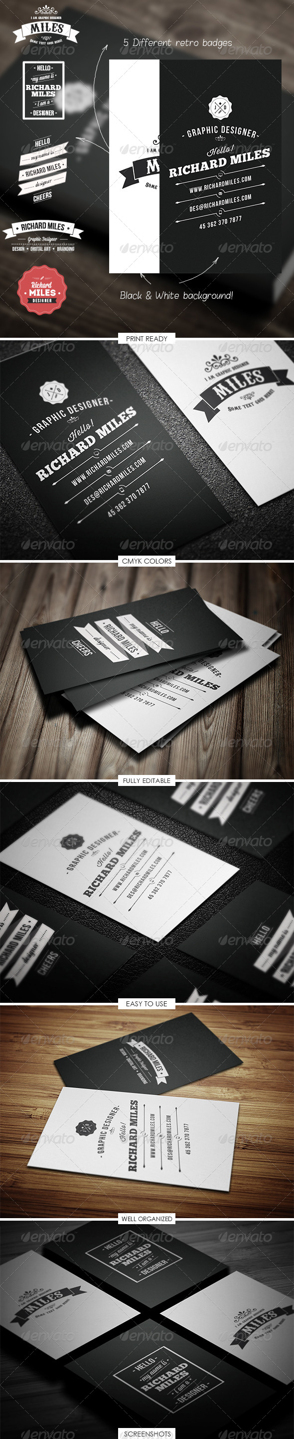 GraphicRiver Retro Business Card 5018222