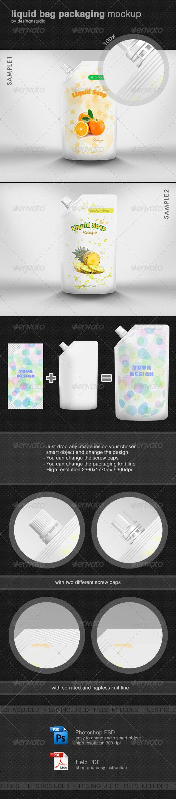Liquid Bag Packaging Mock-Up