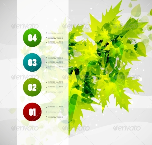GraphicRiver Nature Infographics Modern Template 5018247