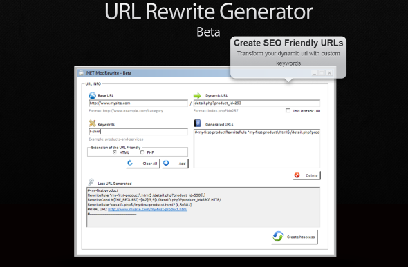 CodeCanyon URL Rewrite Generator 5003499