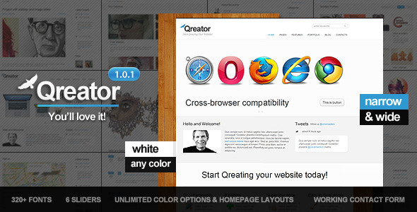 Qreator - Corporate HTML5 template