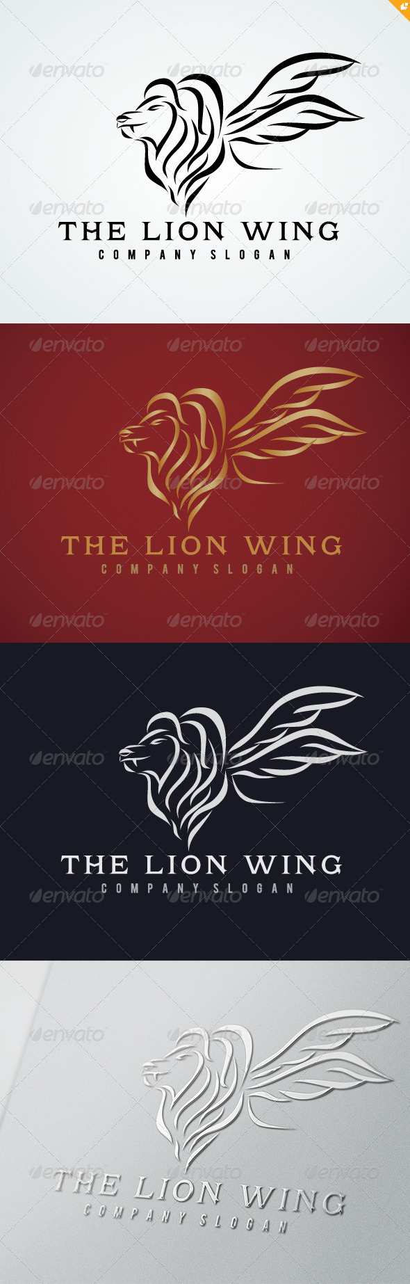GraphicRiver The Lion Wing Logo 5018395