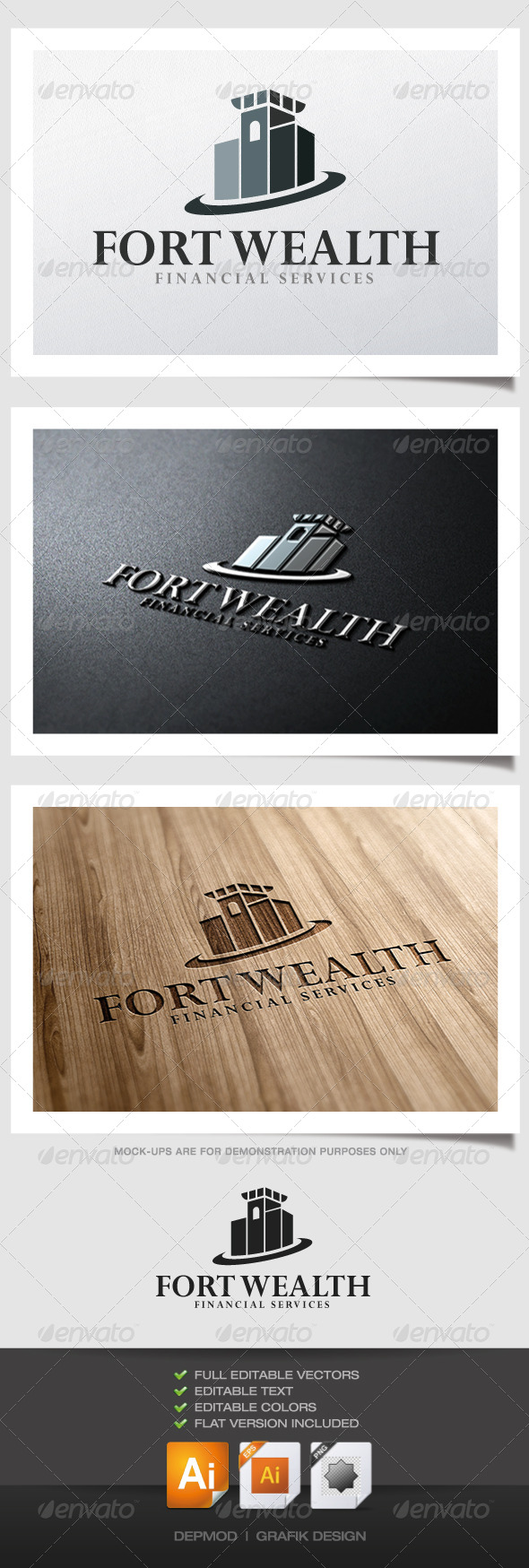 GraphicRiver Fort Wealth Logo 5018399