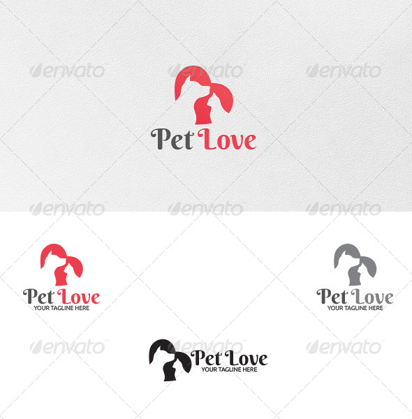 GraphicRiver Pet Love Logo Template 5018619