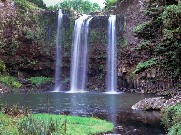 Whangarei Falls - Stock Photo - Images