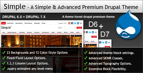 Simple - A Simple & Advanced Premium Drupal Theme