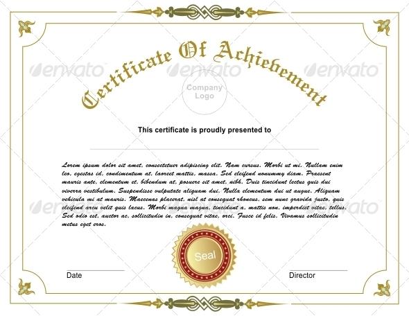 GraphicRiver Achievement Certificate 5002134