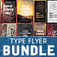 Typography Party Flyer Bundle 1 - GraphicRiver Item for Sale