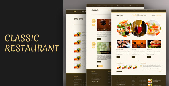 ThemeForest Classic Restaurant Responsive Theme Css3 Html5 5019724