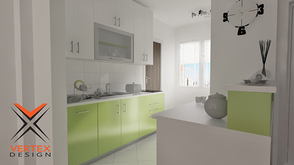 Kitchen Design Ready for Rendering - 3DOcean Item for Sale