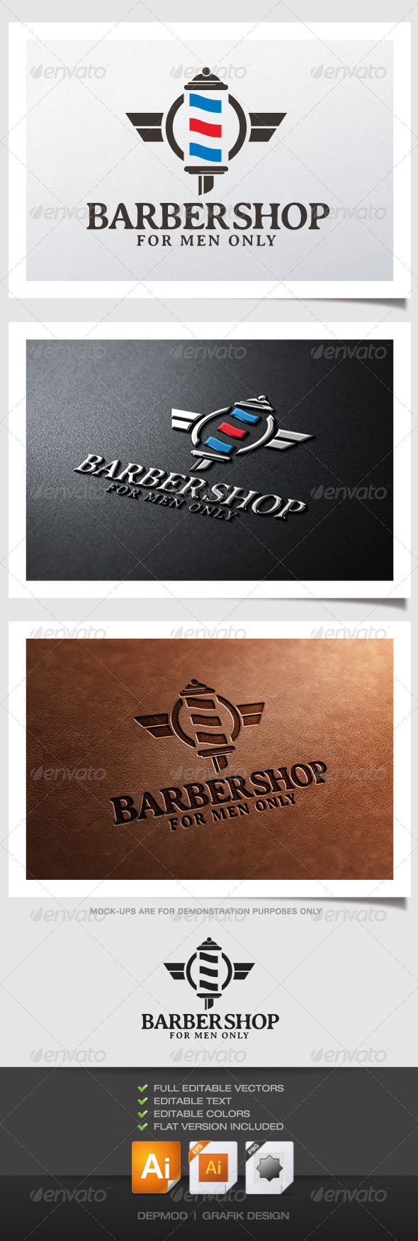 GraphicRiver Barber Shop Logo 5019856