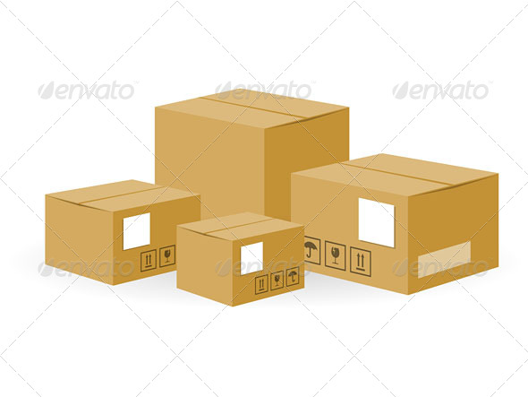 GraphicRiver Brown Shipping Boxes 5020103