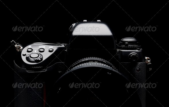 Professional digital camera - Stock Photo - Images