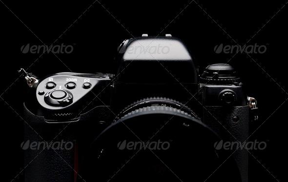 Professional digital camera - Stock Photo - Images