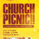 Church Picnic Flyer Template - GraphicRiver Item for Sale