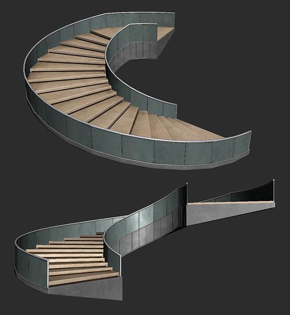 3DOcean Lobby Staircase 5020823