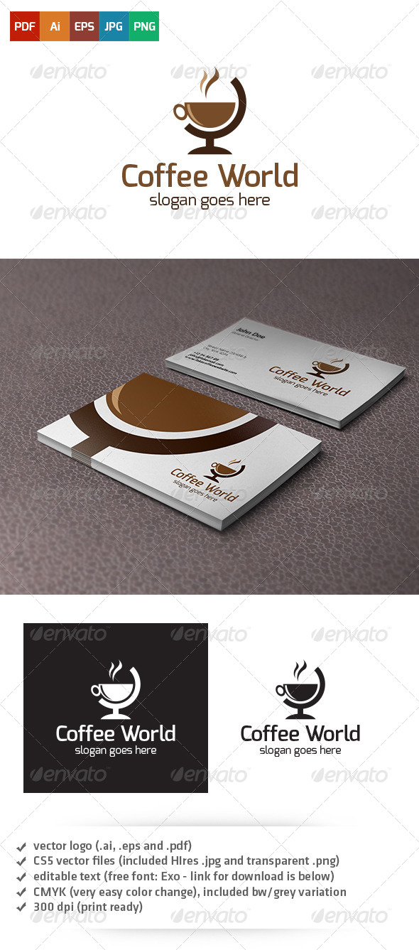 GraphicRiver Coffee World Logo 5020828