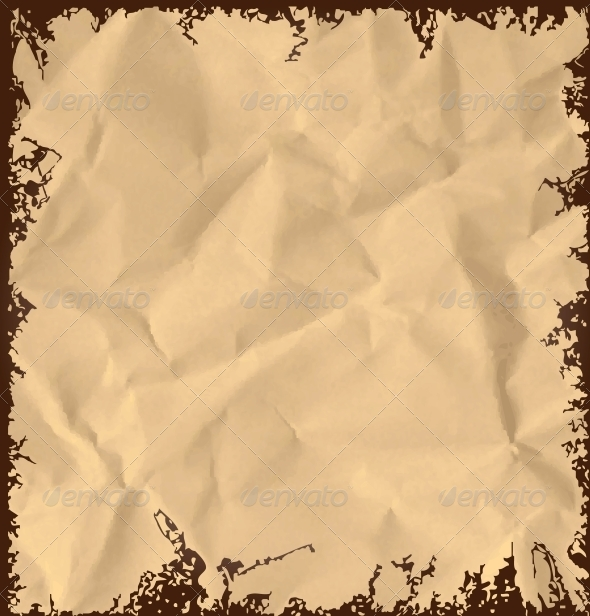 GraphicRiver Old Crumpled Paper Background 5020857