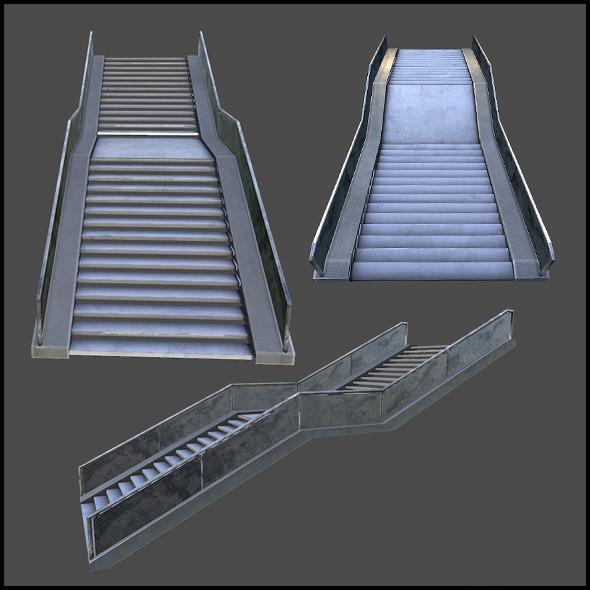 3DOcean Concrete Staircase 5020885