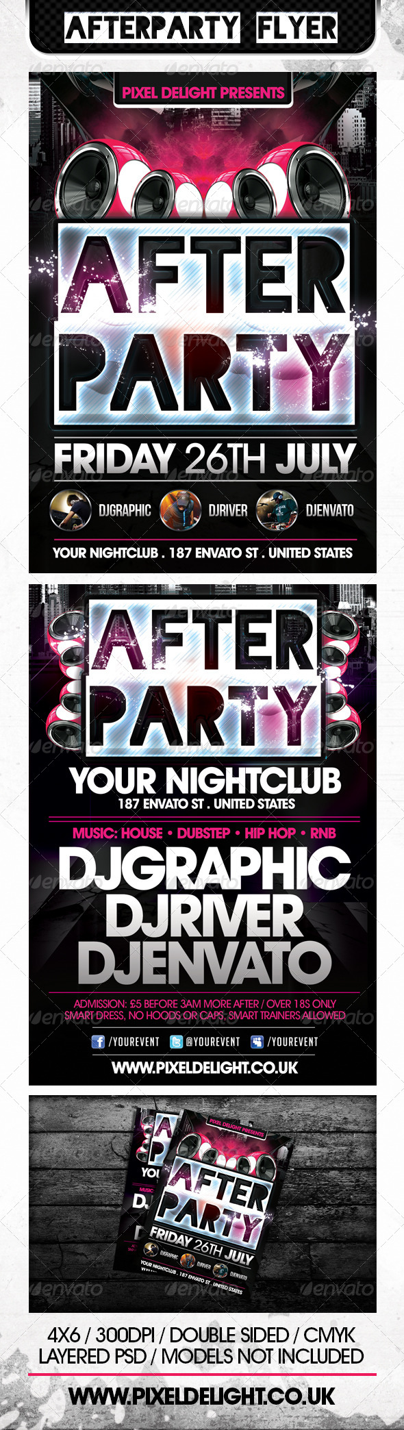GraphicRiver Afterparty Club Flyer 5020887