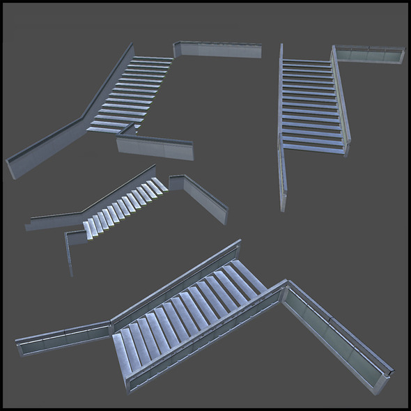 Staircase Set - 3DOcean Item for Sale