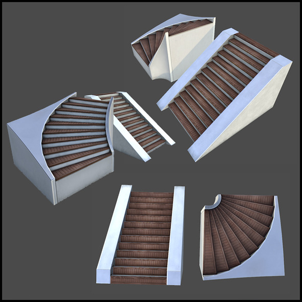 Wooden Stairs - 3DOcean Item for Sale