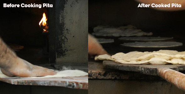 Baker Making Pitas